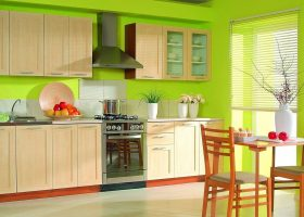 Lime Green Color Kitchen