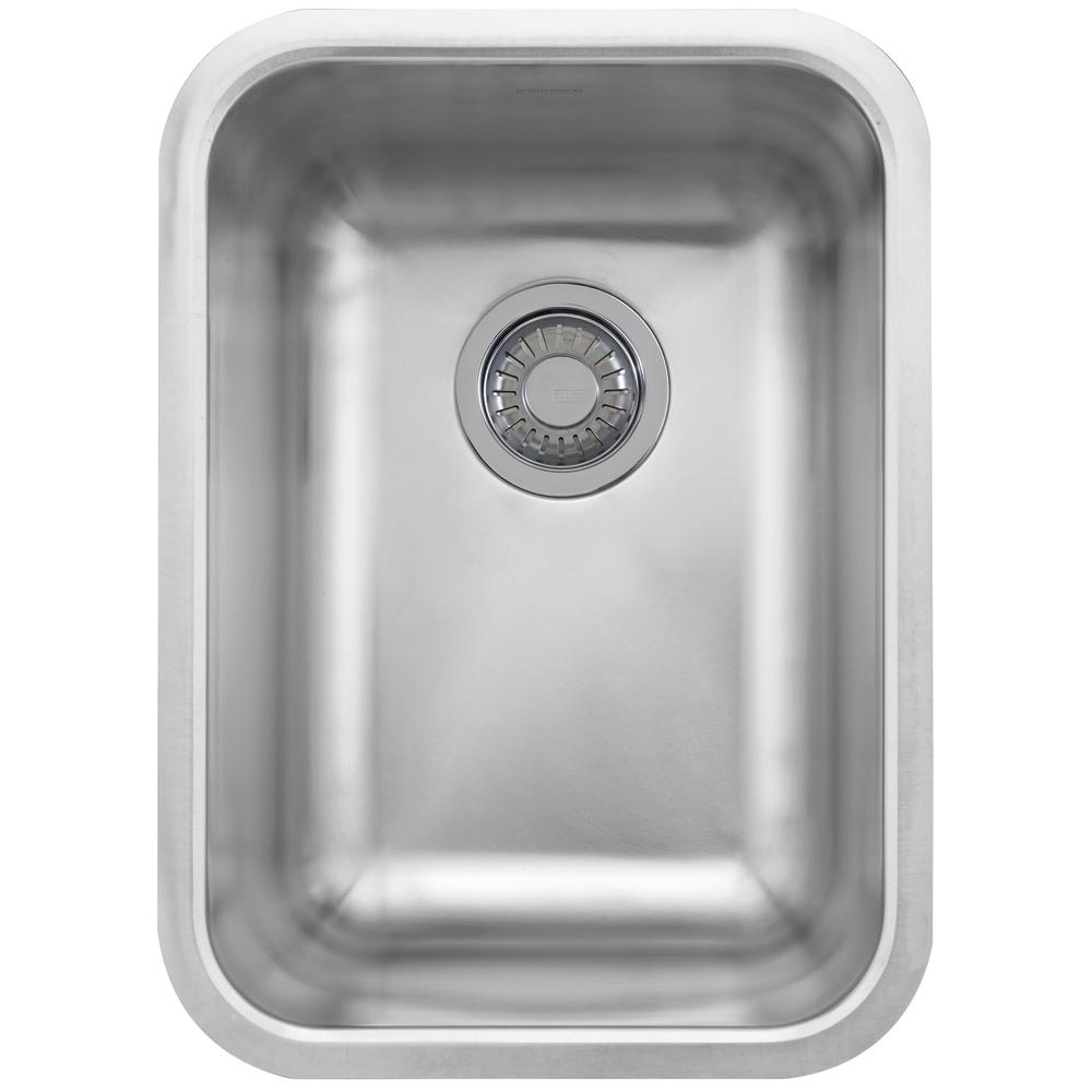 Franke Grande Undermount Stainless Steel 1875 In X 1375 In Single Bowl Kitchen Sink