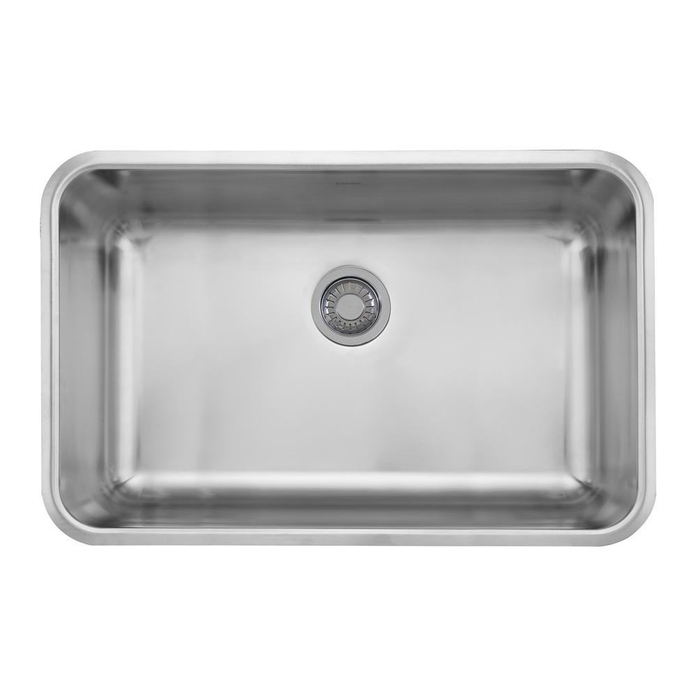 Franke Grande Undermount Stainless Steel 30125 In X 19125 In Single Bowl Kitchen Sink