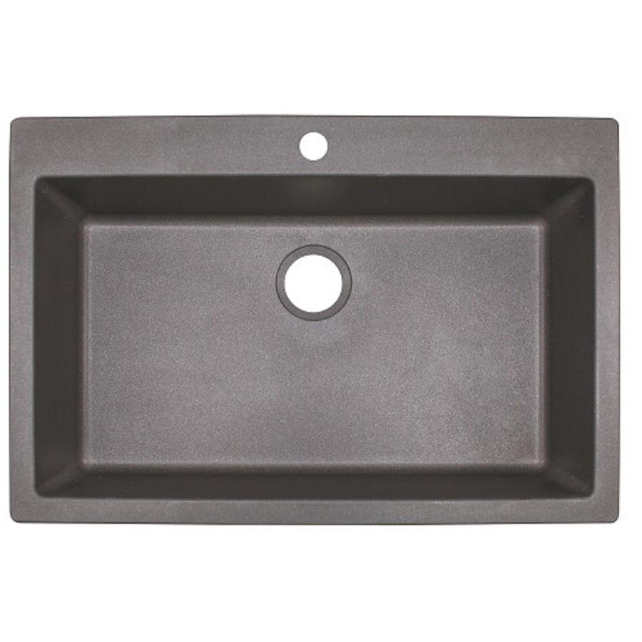 Franke Primo 33 In X 22 In Shadow Grey Single Basin Drop In Or