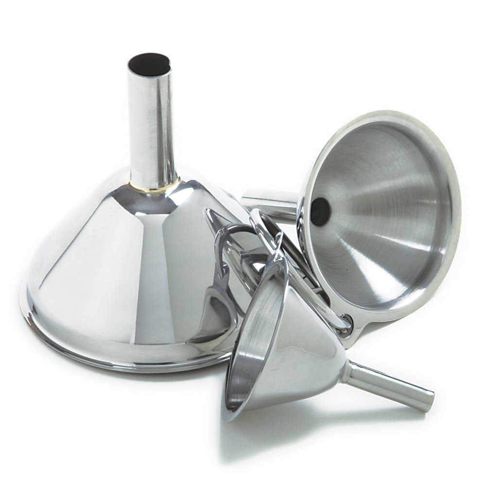 Funnels Small Medium Large Stainless Steel Kitchen Funnel Set Set Of 3