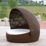 Furniture Patio Day Bed Outdoor Daybed With Canopy Round