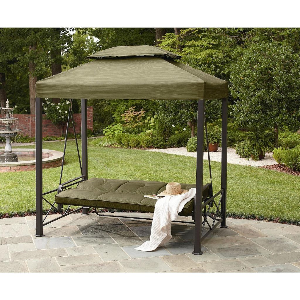 Garden Oasis 3 Person Gazebo Swing Outdoor Living Patio