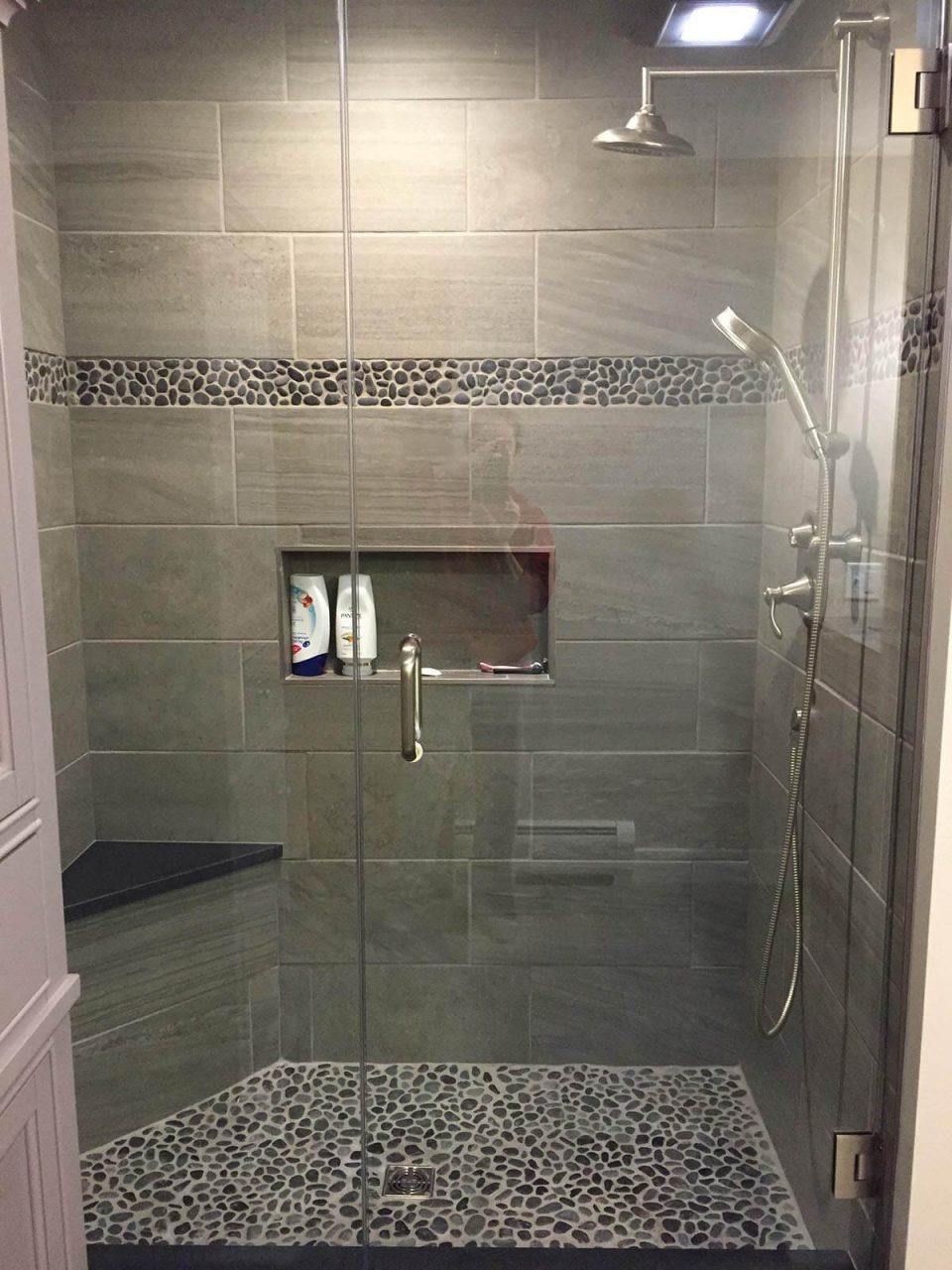 Glass Tile Shower Ideas Brilliant 32 Best And Designs For 2018 8
