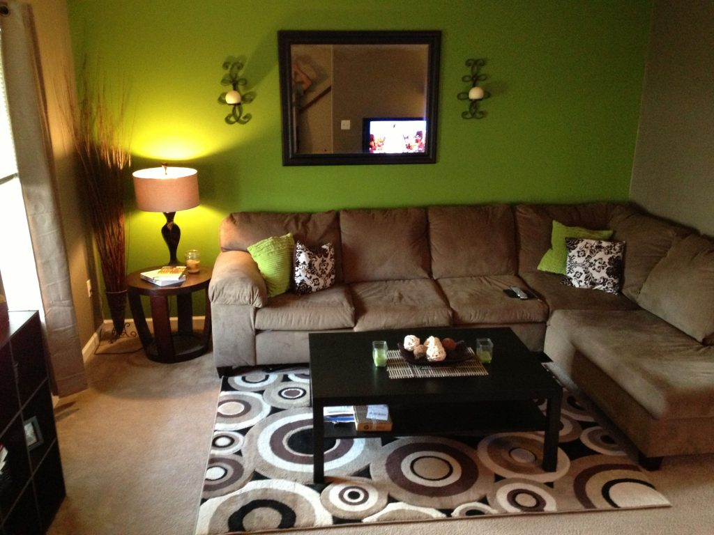 Green And Brown Living Room Apartment Touch Up Living Room Decor
