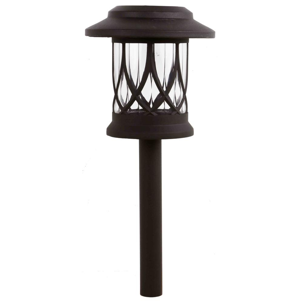 Hampton Bay Solar Bronze Outdoor Integrated Led 3000k 10 Lumens Warm