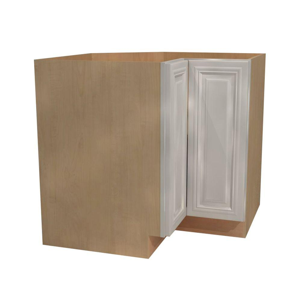 Home Decorators Collection Coventry Assembled 36x345x24 In Easy Reach Hinge Right Base Kitchen Corner Cabinet In Pacific White