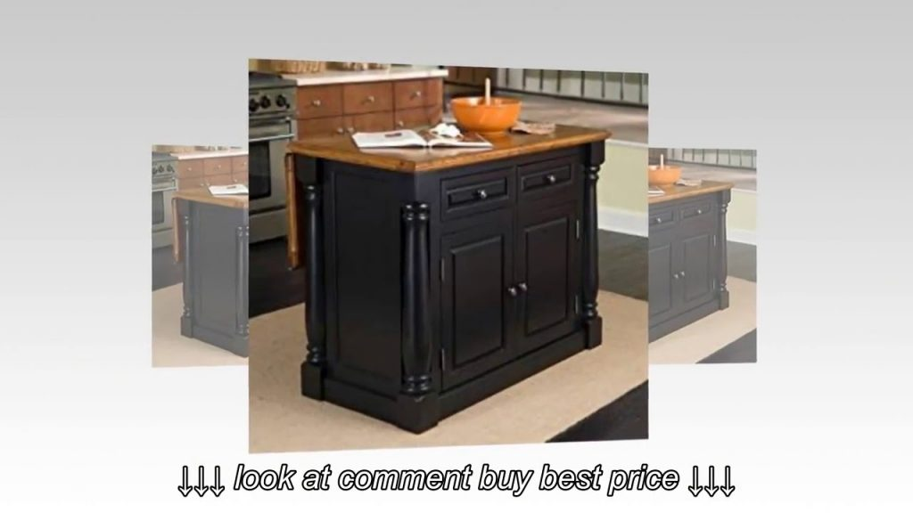 Home Styles 5008 94 Monarch Kitchen Island Black And Distressed Oak