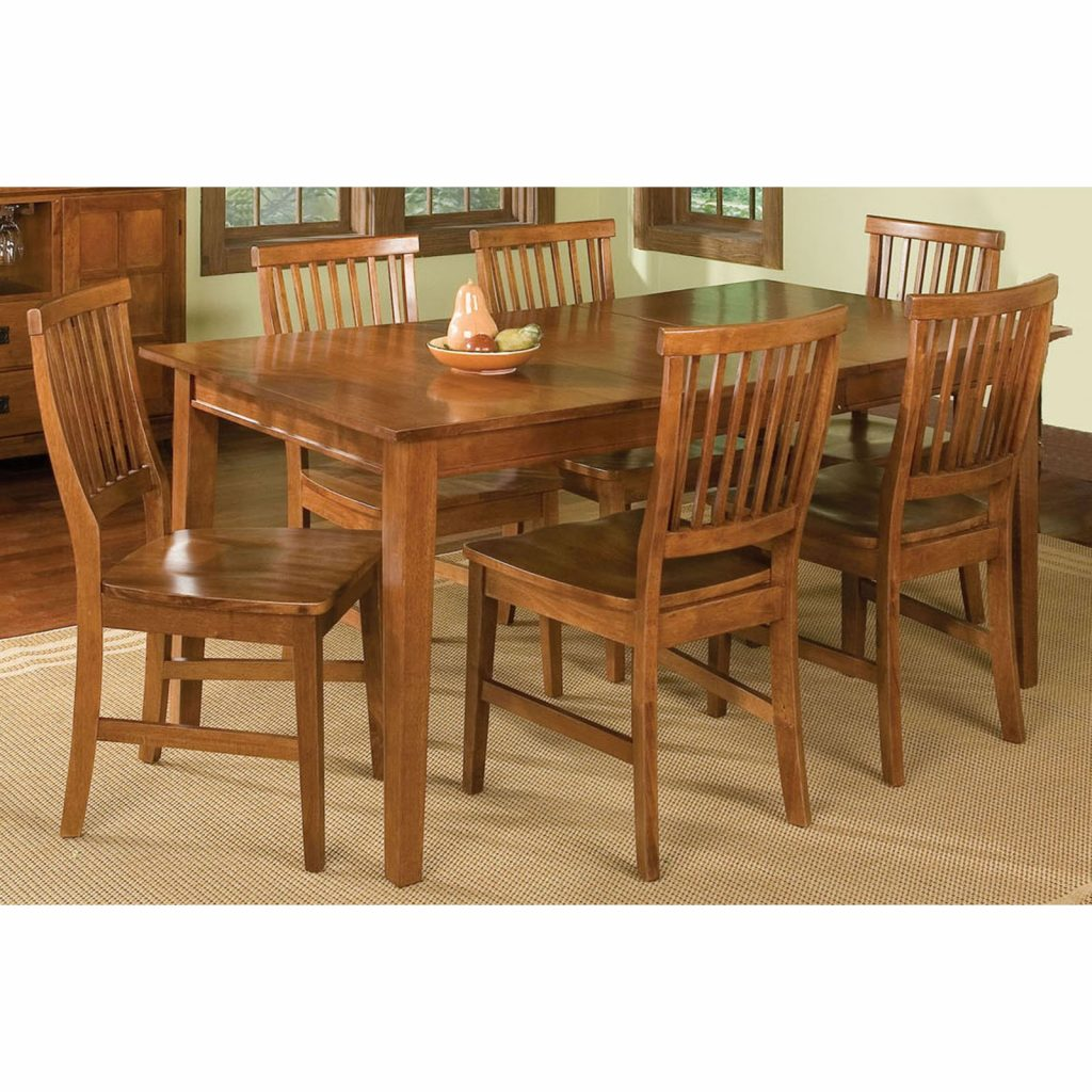 Home Styles Arts Crafts 7 Piece Dining Set Cottage Oak