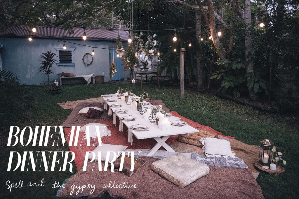 Honey And Fizz How To Host A Bohemian Dinner Party