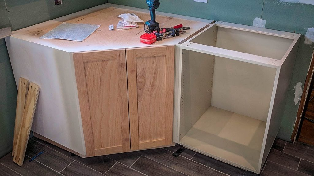 How I Made A Kitchen Corner Cabinet Newair G73 Review