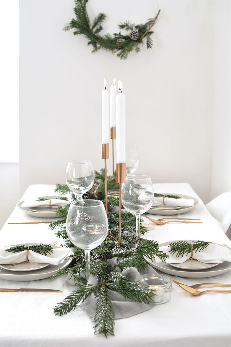 How To Create A Modern Christmas Tablescape Celebrate Christmas