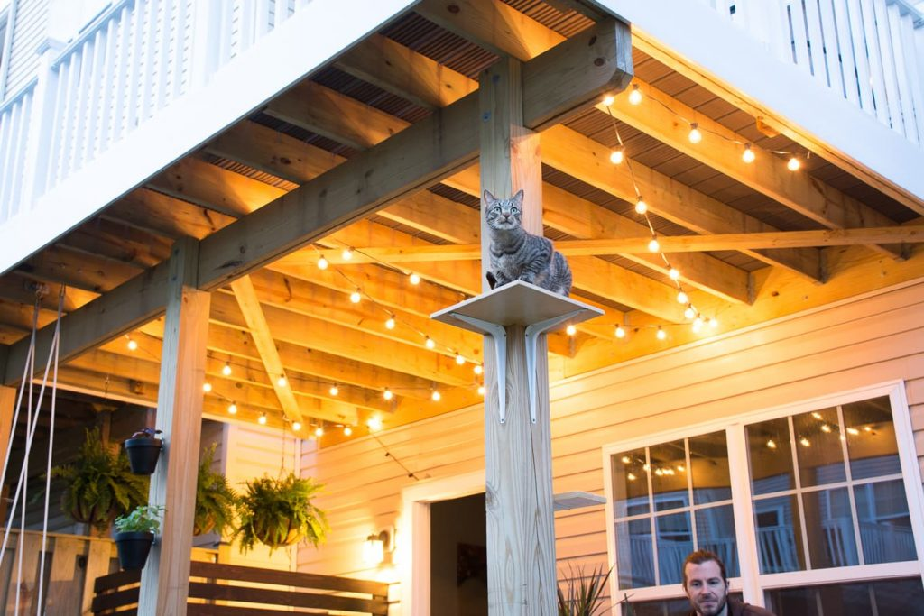 How To Hang Globe String Lights Under A Deck Hang Patio String Lights