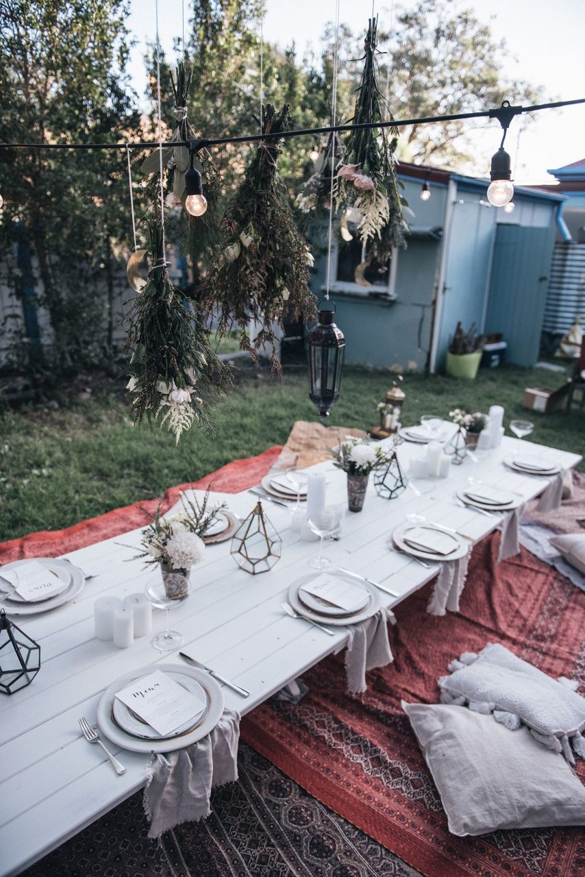 How To Host Decorate An Outdoor Bohemian Dinner Party Spell