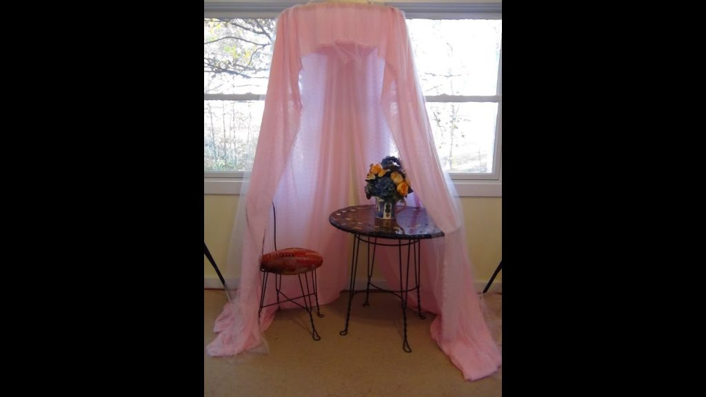 How To Make A Quick No Sew Easy Canopy For Your Princess Youtube