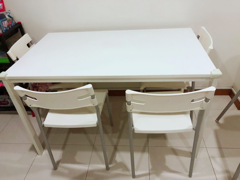 Ikea Dining Set Dining Table With Four Chairs