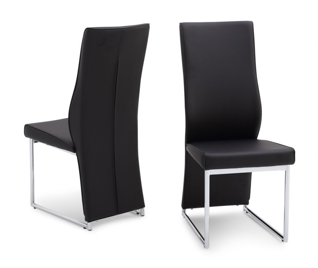 Imperial Black Leather Dining Chair
