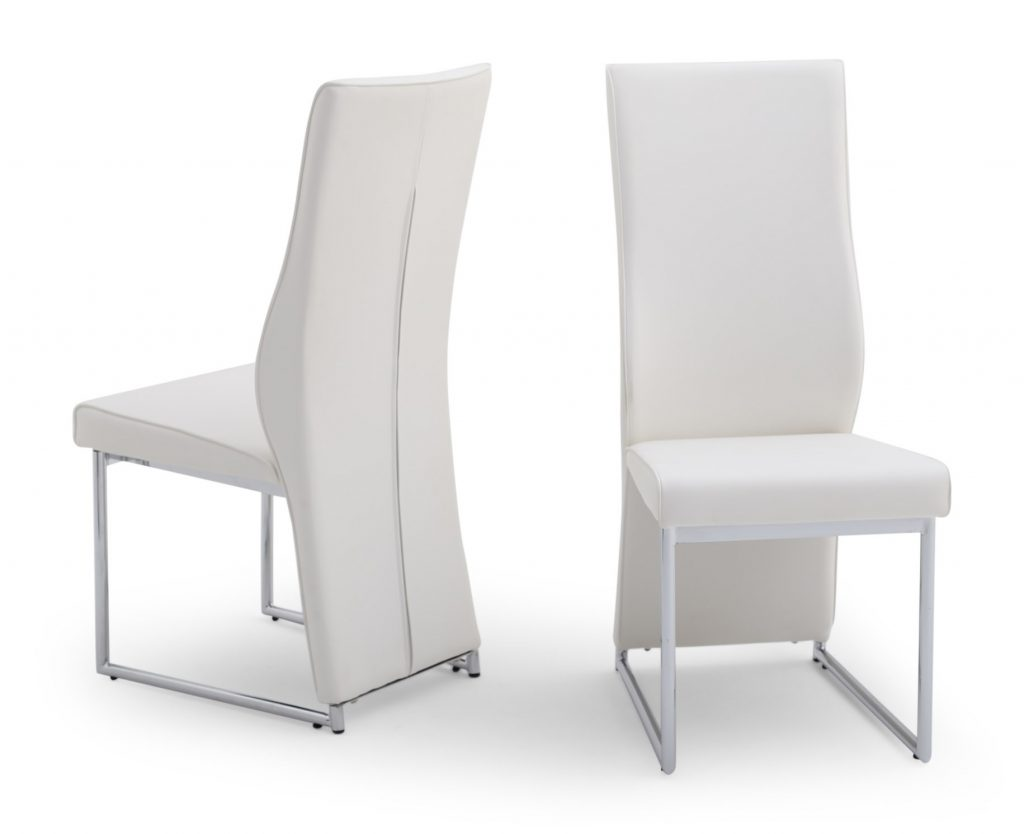 Imperial White High Back Leather Dining Chair
