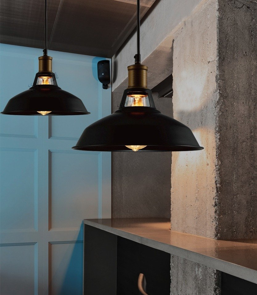 Industrial Retro Vintage Black Pendant Lamp Kitchen Bar Room Service