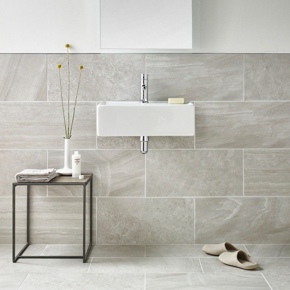 Inverno Grey Marble Effect Rectified Wall And Floor Tile Grey Wall
