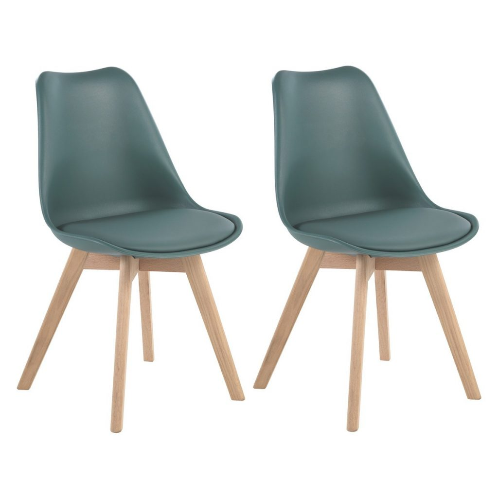 Jerry Pair Of Green Dining Chairs