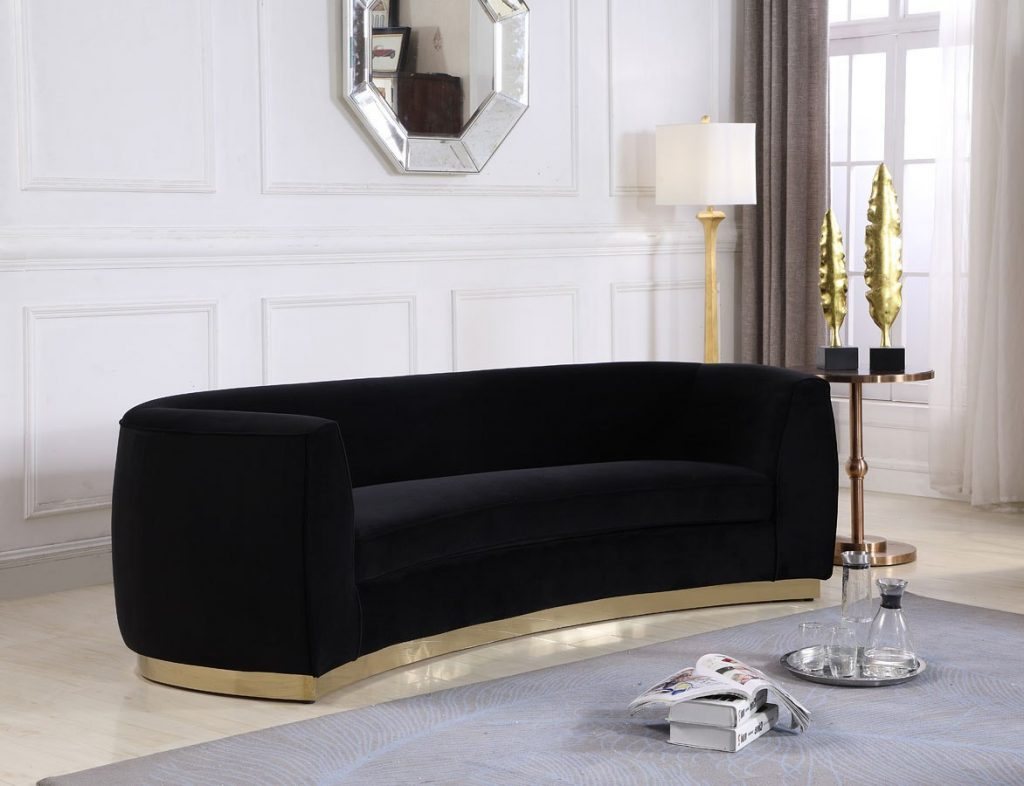 Julian Sofa Black Gold