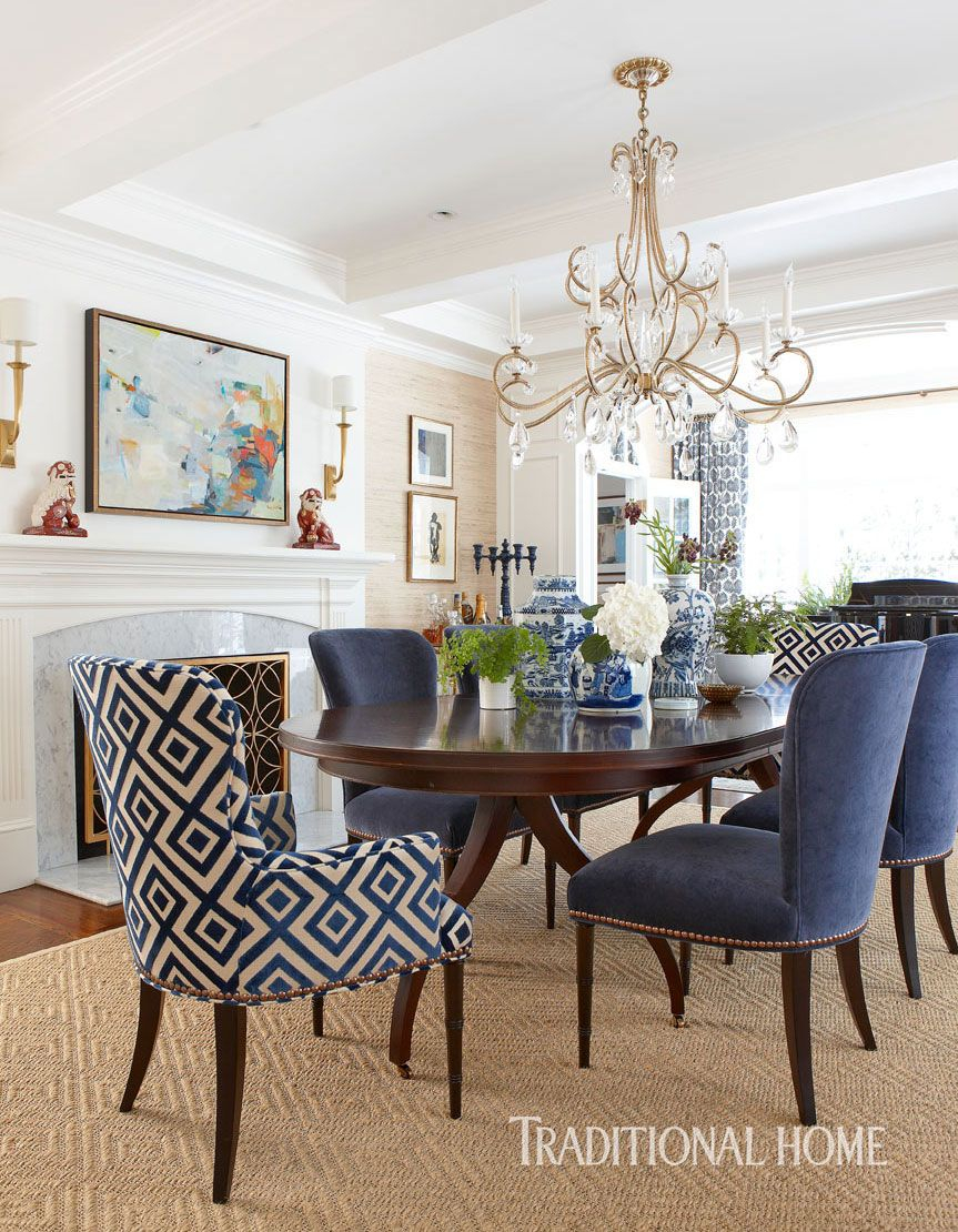 Katie Rosenfeld Traditional Home Living Room Comedores
