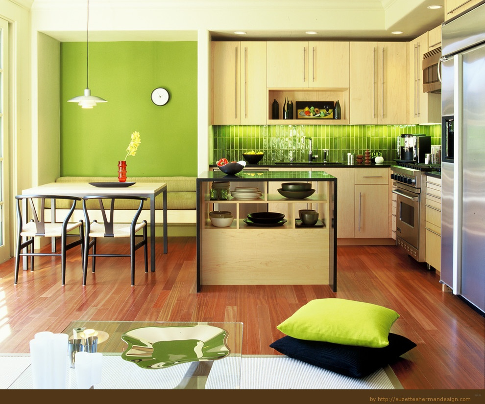 Kitchen Awesome Lime Green Kitchen Decorating Ideas With Green