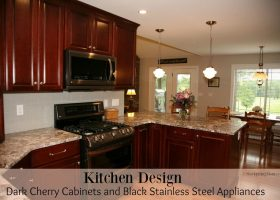 Kitchen Designs with Dark Cherry Cabinets