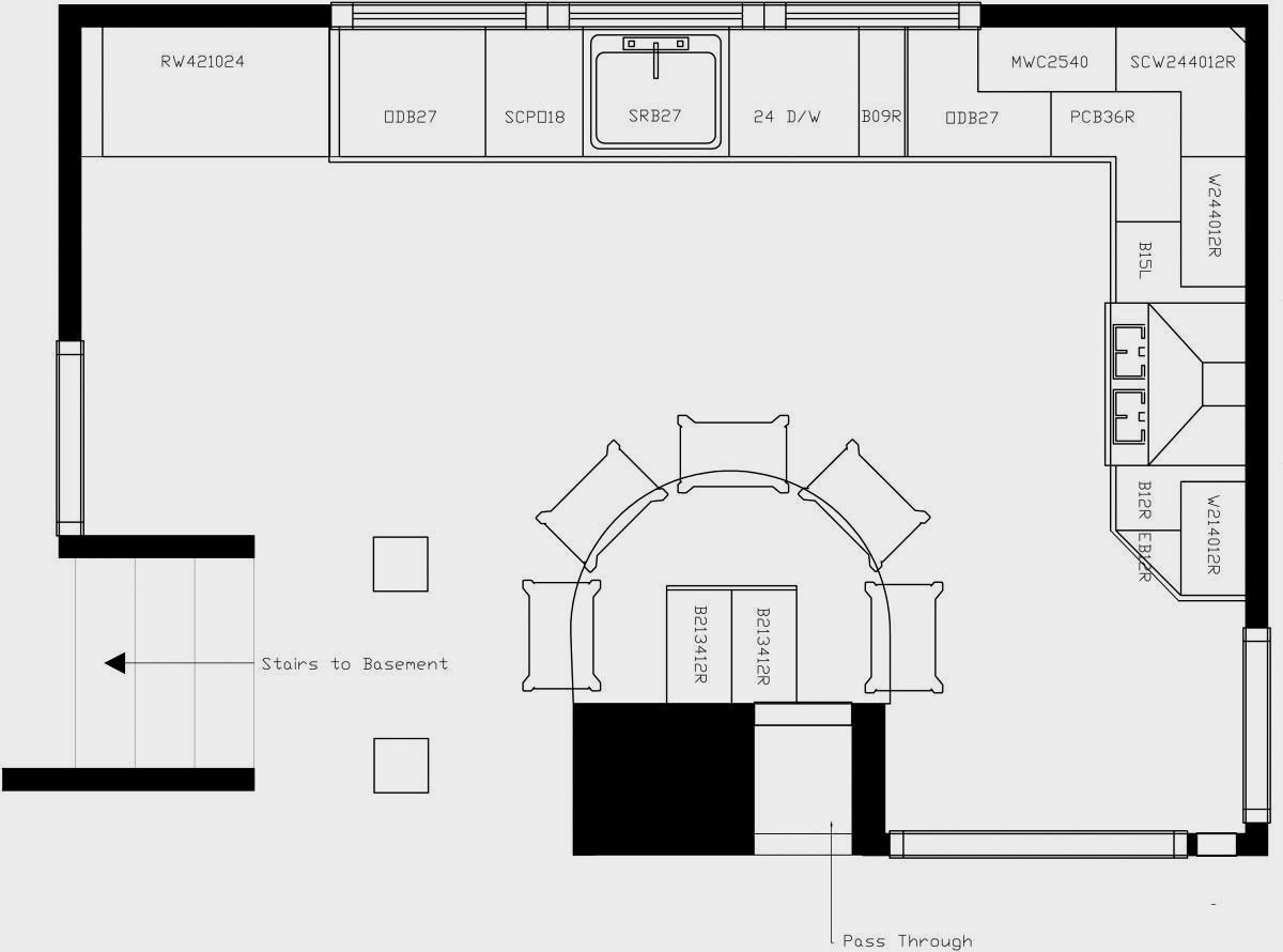 Kitchen Layout Ideas Floor Plan With Island And L Shaped Elevation ...