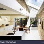 Kitchen View With Exposed Brick Wall And Rooflight Princess May