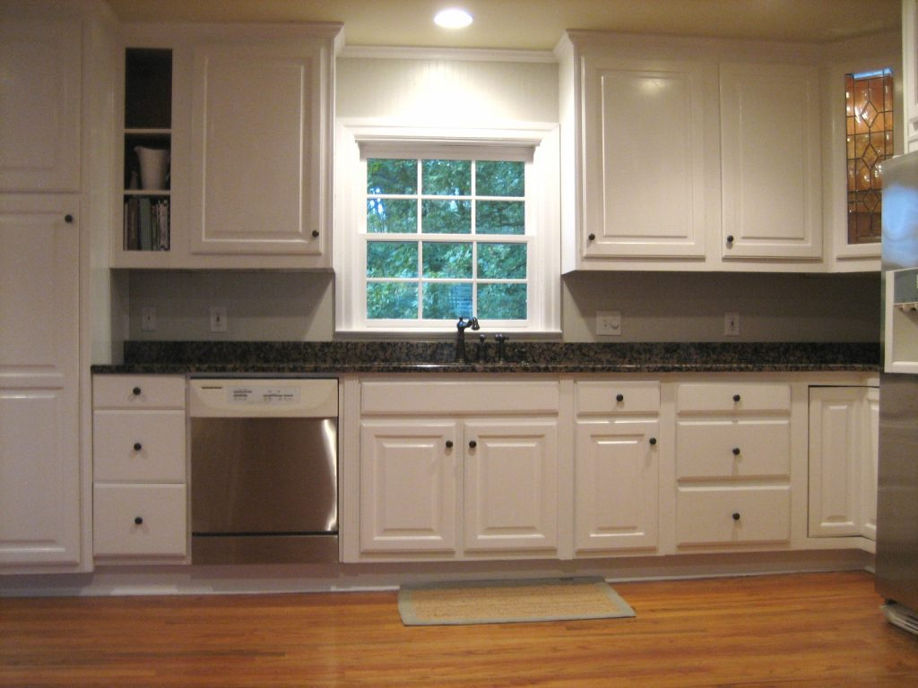 Kitchen Wall Colors With White Cabinets Ideas And Steel Gray Granite