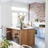 Kitchen With Exposed Brick Wall Interiors Pinterest