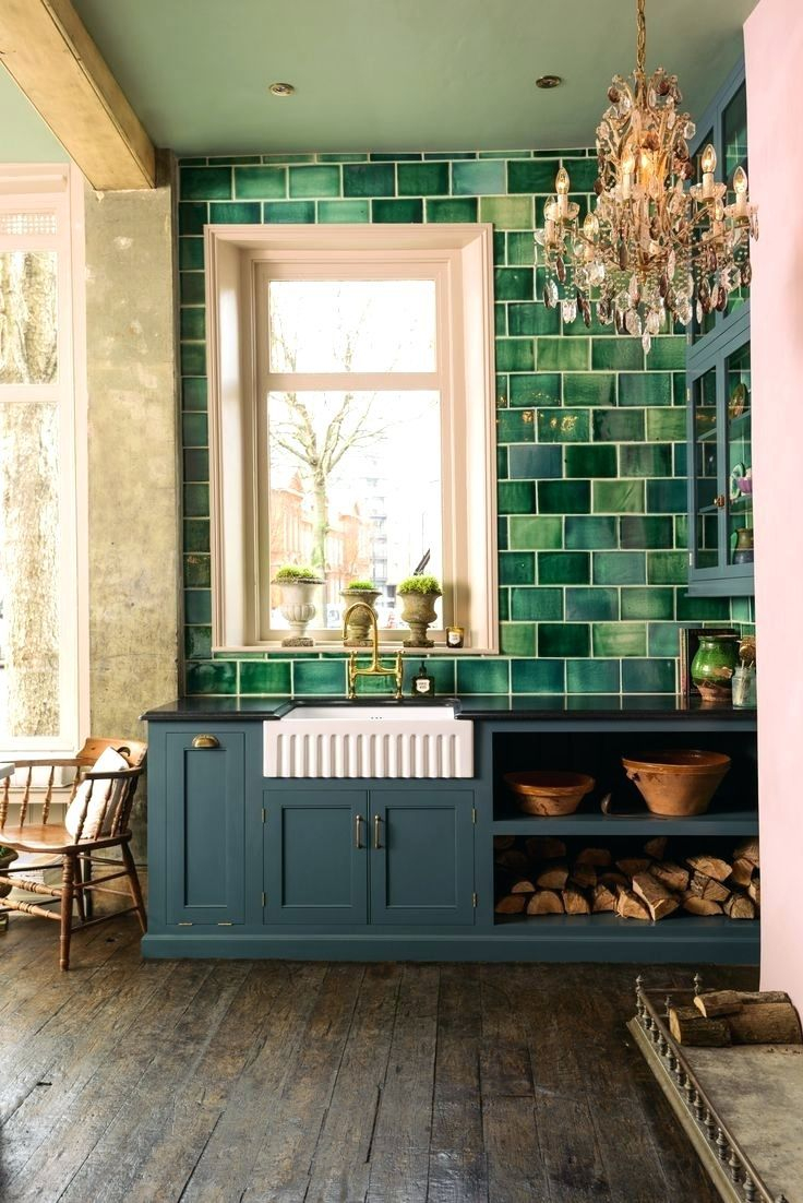 Kitchendark Green Tile Kitchen Backsplash Ideas With White Cabinets