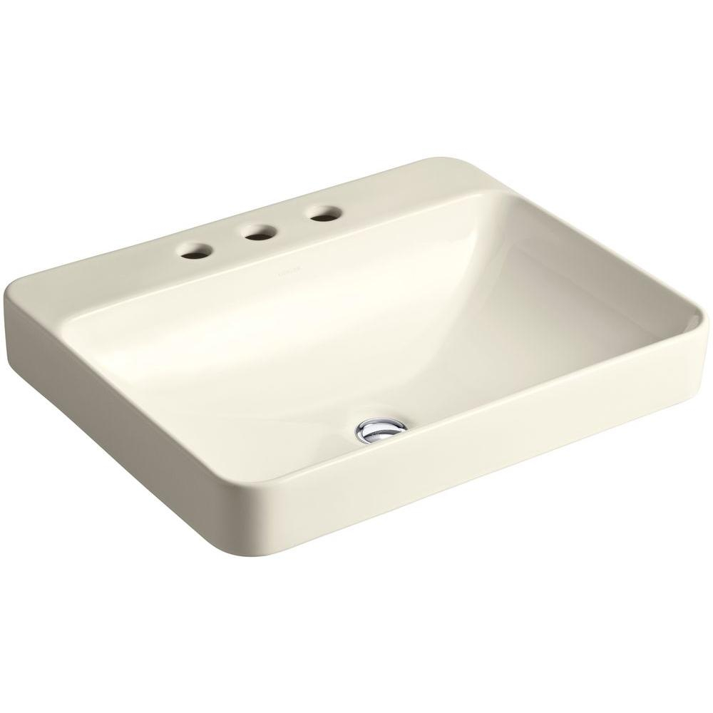 Kohler Vox Rectangle Above Counter Vessel Bathroom Sink In Almond