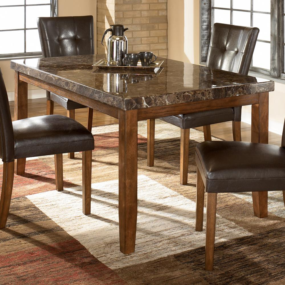 Lacey Rectangular Dining Table W Faux Marble Top Signature Design Ashley At A1 Furniture Mattress