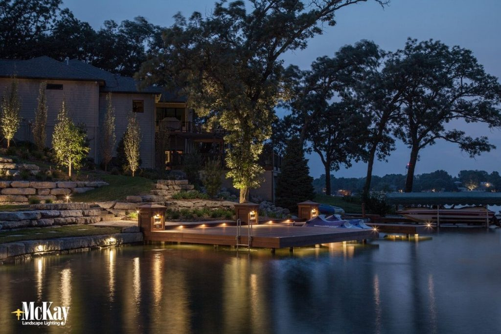 Lake House Dock Lighting Beaver Lake Ne Mckay Landscape Lighting