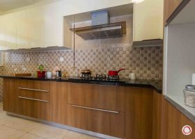 Brown and White Kitchen Cabinets