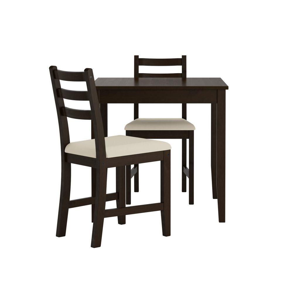 Lerhamn Dining Table And Chairs Black Brownvittaryd Beige 74x74 Cm