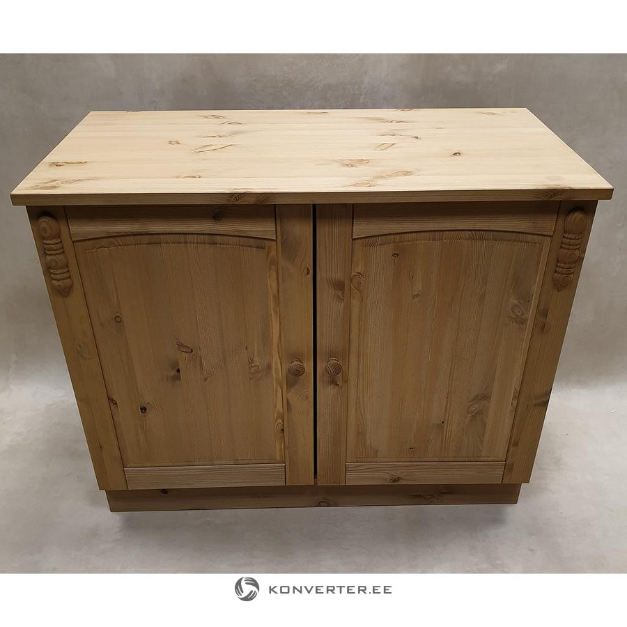 Light Brown Solid Wood Wide Kitchen Cabinet Konverter Outlet