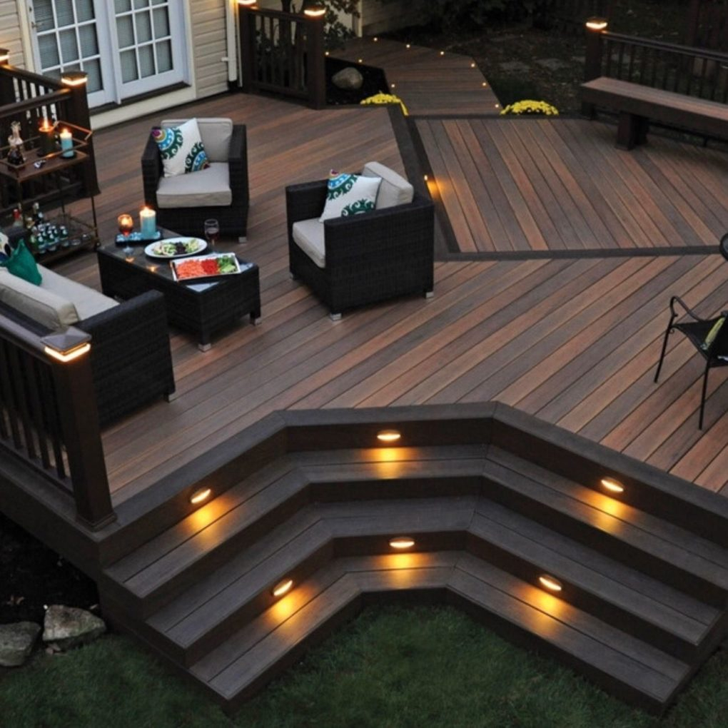 Lighting Attractive Deck Lighting For Your Deck Design Solar Deck