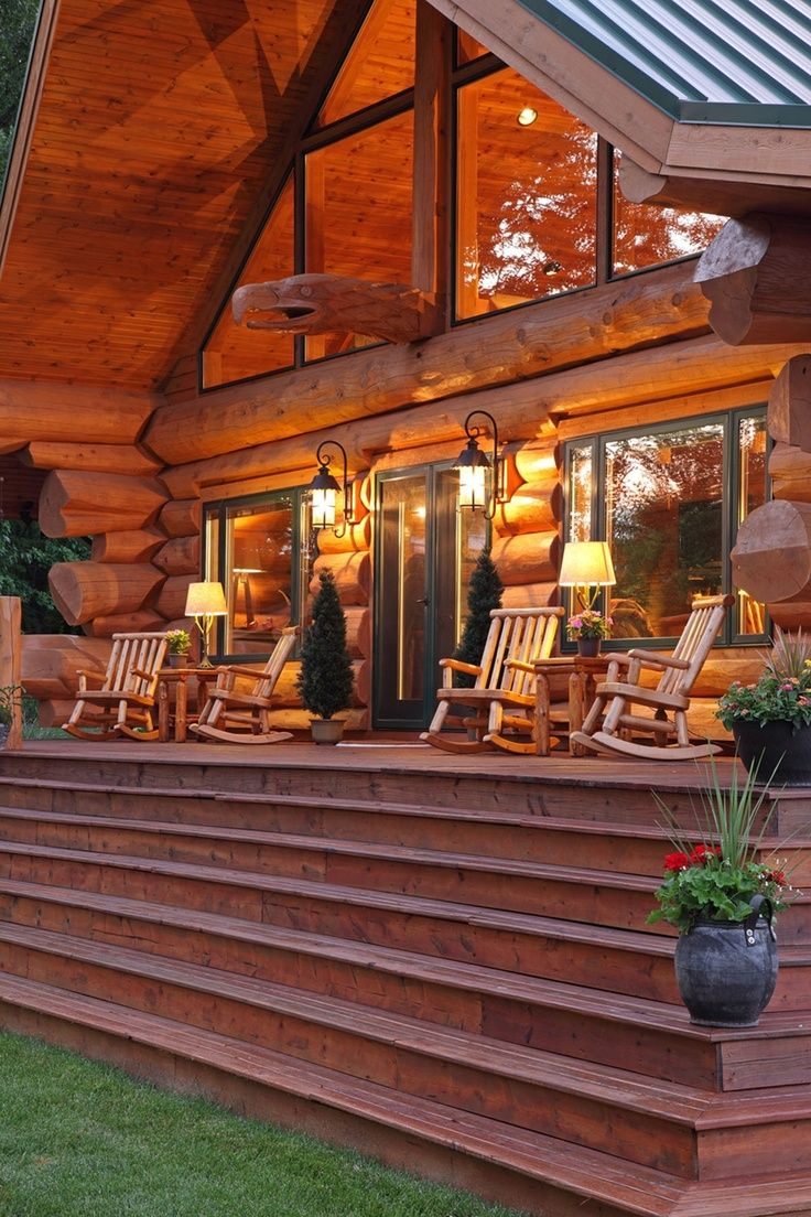 Logcabinporches Log Cabin Porch Dream Home Favorite Places