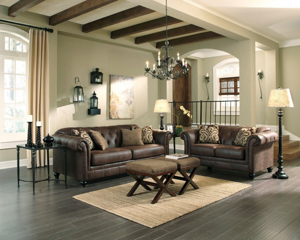 Longdon Place Espresso Living Room Set 32901 Ashley Furniture