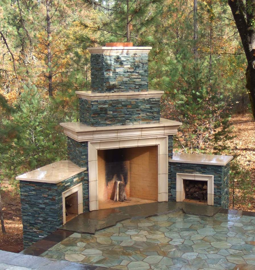 Lovely Outside Fireplace Ideas 8 Outdoor Fireplace Designs