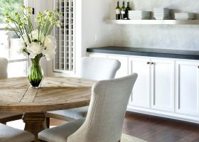 Modern Rustic Round Dining Room Table