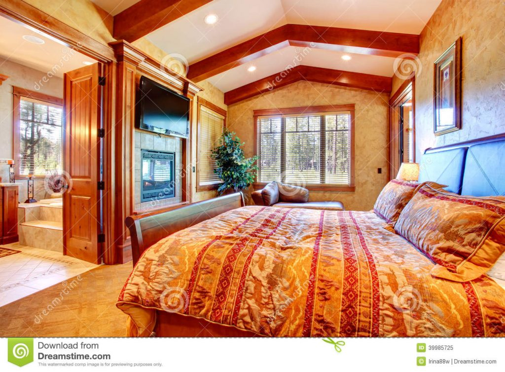 Luxury Master Bedroom Interior Stock Image Image Of Architecture
