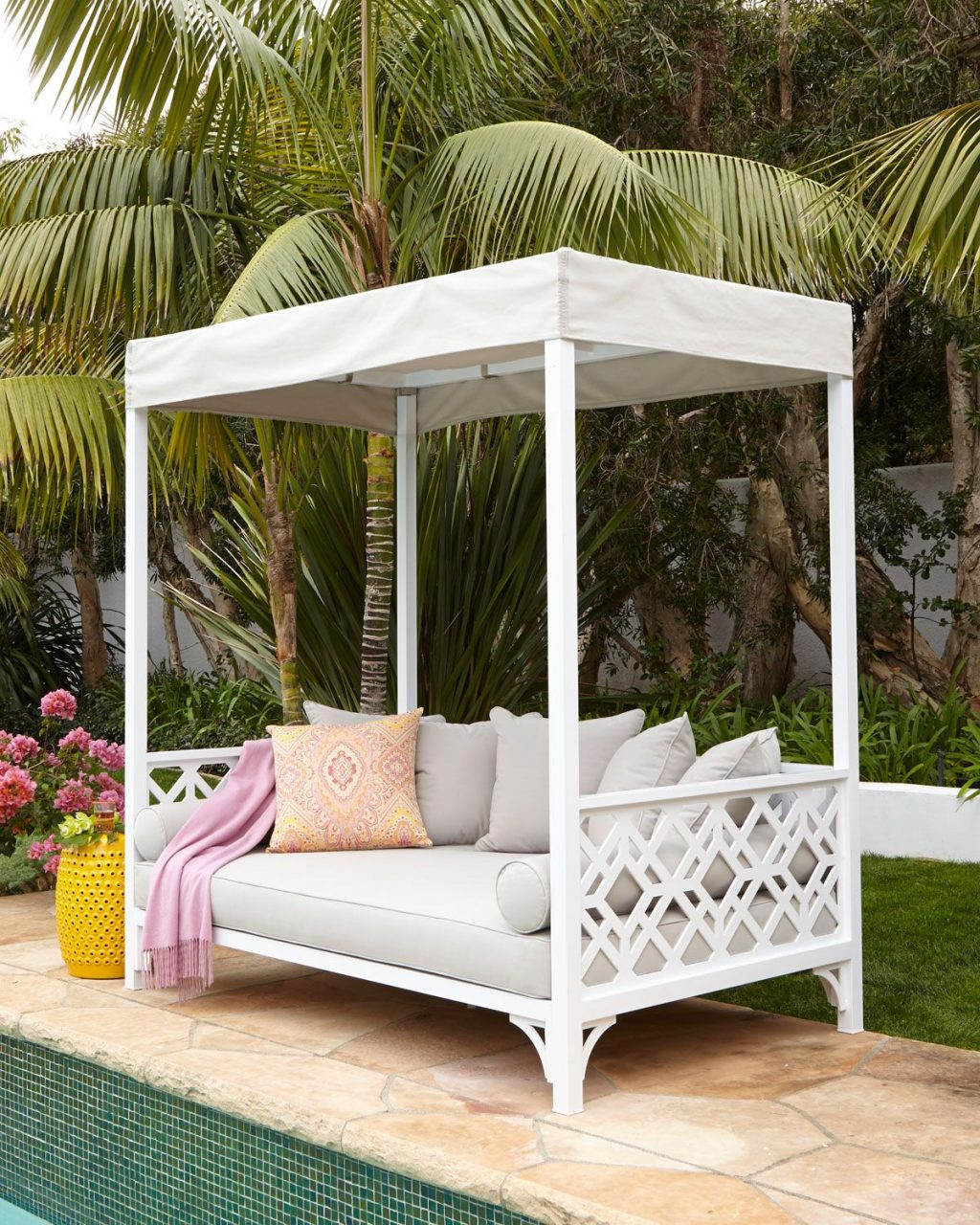 Made In The Shade A Canopy Covered Outdoor Daybed Made For Lounging