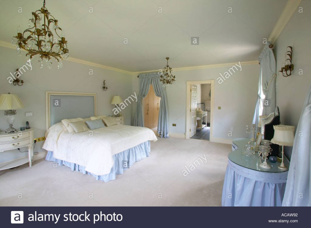 Master Bedroom Of Large Home With Dressing Room And En Suite Stock
