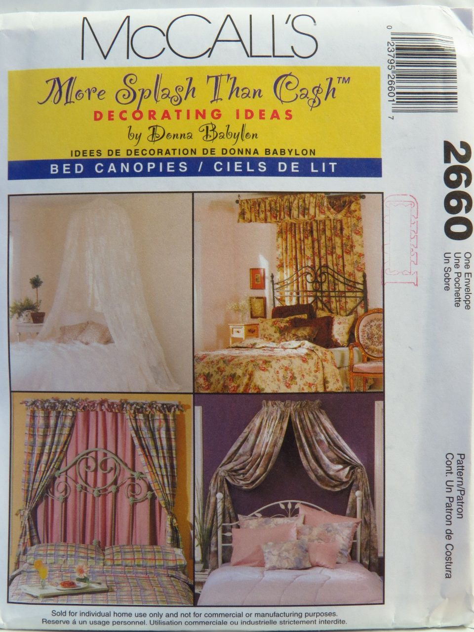 Mccalls 2660 Bed Canopies Decoration Canopy Curtains Mccalls