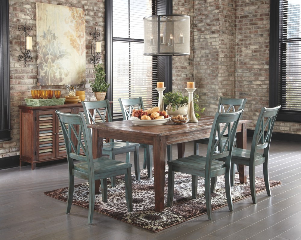 Mestler Bluegreen Dining Room Side Chair Set Of 2 Side Chairs